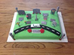 Cemetery Mortuary School Graduation Cake funeral director birthday sheet