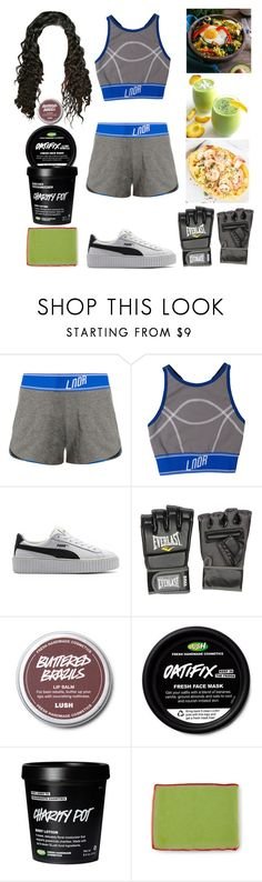 """Boxing Workout"" by allison-syko ❤ liked on Polyvore featuring LNDR, Puma, Everlast and Kale"
