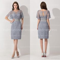 cinderelladress welcomes you to select white plus size cocktail dresses,black cocktail dresses under 50 and black lace cocktail dresses on Dhagte.com.  2015 silver scoop sheath knee length short cocktail dresses short sleeves lace party gowns graduation cheap homecoming dress bzp0402 is on sale now.