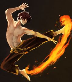"picolo-kun: "" Lighting and pose study. Also it's been a while since I drew Zuko  """