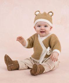 Un mmodèle pour tricoter une brassière et le bonnet petit ourson ✪ Teddy Sweater and Hat