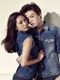 Park Shin Hye and Ahn Jae Hyun are sexy in denim for 'Jambangee' | allkpop