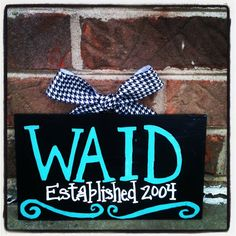 Cute Family Last Name Sign by SweetSerendipityAlly on Etsy, $18.00