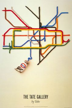 The Tate Gallery by Tube , David Booth, 1987  Oh, I so remember this one. One of the few happy memories from a very unhappy time.