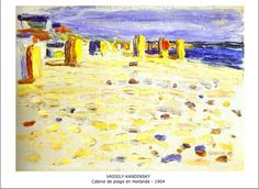 Wassily Kandinsky - 50 Most popular paintings Kandinsky Art, Wassily Kandinsky Paintings, Pablo Picasso, Abstract Expressionism, Abstract Art, Holland Beach, Beach Basket, Popular Paintings, Art Abstrait