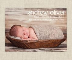 baby boy birth announcement-- modern by brownpaperstudios on Etsy https://www.etsy.com/listing/90930122/baby-boy-birth-announcement-modern