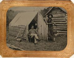 old-timey log cabin dudes