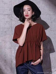 バックギャザーVネックブラウス(ブラウス)|nano・universe(ナノ・ユニバース)|ファッション通販 - ファッションウォーカー: