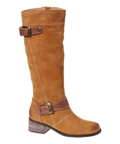 Love this Camel Zeppelin Leather Boot by Encore on #zulily! #zulilyfinds