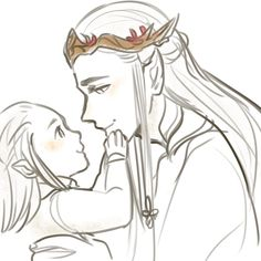 sellleh:  tumblr ask was being a jerk ;u; Oropher and lil Thrandy for featheredmoonwingssorry bby the image wasn't properly uploaded before //kiss kiss