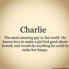 I hope Chloe realises just how lucky she is to have a boy like Charlie in her life