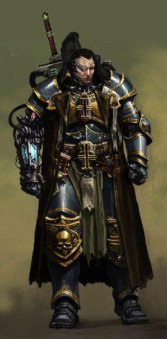 Ordo Xenos Inquisitor in Power Armor Warhammer Inquisitor, Warhammer 40k Rpg, Warhammer 40k Miniatures, Warhammer Fantasy, Cyberpunk, Grey Knights, Deathwatch, The Grim, Space Marine