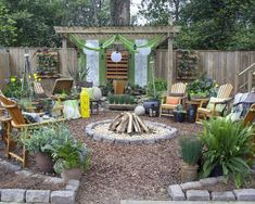 Spaces Landscaping Around A Fire Pit Design, Pictures, Remodel, Decor and Ideas - page 19