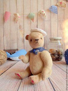 Ведмедики Тедді ручної роботи. Ярмарок Майстрів - ручна робота. Купити Морячок-пухлячок. Handmade. Бежевый, капитан, buy, опилки