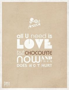 and chocolate...