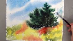 Learn to paint a beautiful meadow with wet on wet washes. For the full, free lesson, including many more reference photos of Maine for painting, visit www.de...