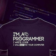 Ima get one of these shirts as soon as I get through html/css. Ive been on html/css for the past 3.5 years so the situation is looking bleek. It's not beneath me belive me but we need to be friends or family. I won't charge you but for the parts. The understanding I have with any little thing I do such as fix a computer help with a logo or even help with some code. It's at the back of my priority list so after I do what I need done .... I can do that.  #positive  #positivethoughts…