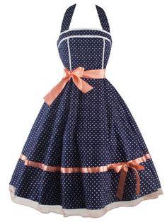 GET $50 NOW | Join RoseGal: Get YOUR $50 NOW!http://m.rosegal.com/vintage-dresses/vintage-polka-dot-halter-dress-647468.html?seid=7220671rg647468
