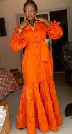 Latest African Fashion Dresses, African Dresses For Women, African Print Dresses, African Print Fashion, African Attire, Classy Dress, Mode Style, Muslim, Basin
