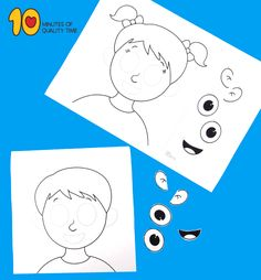 Parts of the Face Cut and Paste Worksheet Cut And Paste Worksheets, Shapes Worksheets, Preschool At Home, Preschool Crafts, Toddler Activities, Preschool Activities, Toddler Crafts, Crafts For Kids, Body Parts For Kids