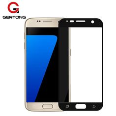 Screen Protectors. Full Cover Color Screen Protector Tempered Glass Film for Samsung Galaxy A3 A5 2017 EU Eurasian Version J5 J7 J3 2016 S7 S6 S5. #Screen Protectors
