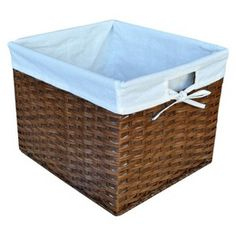Threshold™ Rattan Large Milk Crate with Liner