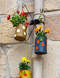 Garden Crafts 80 Awesome Spring Garden Decoration Ideas For Backyard & Front Yard Garden Crafts, Garden Projects, Garden Art, Garden Design, Garden Ideas, Diy Garden, Tin Can Crafts, Diy Crafts, Container Flowers