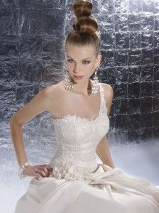 One shoulder lace wedding dresses | The Wedding Specialists