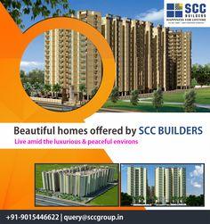 Beautiful #Homes Offered By #SCC #BUILDERS.... Live amid the luxurious & peaceful environs