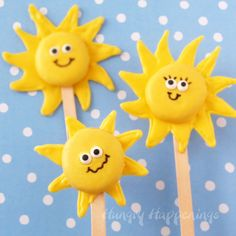 Sunshine Lollipops ~ cute for a Pool or Beach party