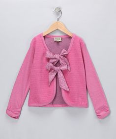Take a look at this Watermelon Bow Cardigan - Infant by Sophie Catalou on #zulily today!