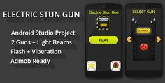 Electric Stun Gun + Admob Ready . Electric Stun Gun is fun and entertain game which will convert your mobile into stun gun and gives electricity sparks, vibration and flash light blinks. This game have 2 awesome designed guns and smooth interface with friendly user