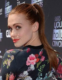 Holland Roden's sleek ponytail