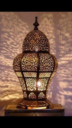 Moroccan table light, Table lamp creates a lovely Ambiance. Moroccan Lamp, Moroccan Lanterns, Moroccan Design, Moroccan Home Decor, Moroccan Theme, Turkish Lamps, Modern Moroccan, Turkish Tiles, Moroccan Tiles