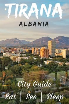 Everything you need to know about public transport, things to do, places to eat and day trips from Tirana. Best Places To Travel, Cool Places To Visit, Albania Travel, Visit Albania, Tirana Albania, European City Breaks, New York City Travel, Famous Places, France Travel