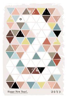 年賀状2013 No.31: Triangle Cobra (EN/FR/ES) | ポストカードデザイン・年賀状デザイン – INDIVIDUAL LOCKER