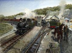 Ffestiniog Work Horses  by Terence Tenison Cuneo        Date painted: 1985