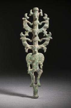 Standard Finial Iran, Luristan, Luristan bronzes, circa 1000-650 B.C. Architecture; Architectural Elements Bronze, cast