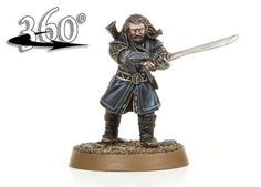 The mighty Thorin Oakenshield swlngs his blade. Goblins beware!