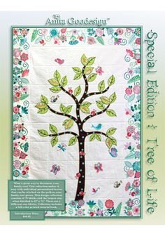 Tree of Life Special Edition | Anita Goodesign. I've often thought something like this would be nice.