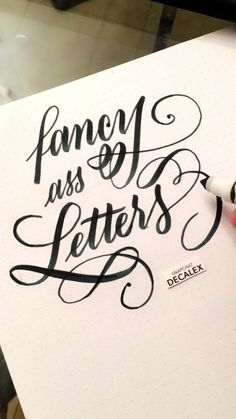 Look at these fancy-ass letters. | 18 Calligraphy Pictures That Are So Beautiful You'll Want To Cry A Little Bit
