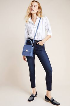 Ella Moss The High-Rise Skinny Ankle Jeans by in Blue Size: Women's Denim at Anthropologie Skinny Ankle Jeans, Skinny Fit, Ella Moss, Modern Bohemian, Kawaii Fashion, Mom Jeans, Women's Jeans, Anthropologie, Denim