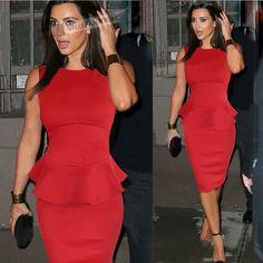 Pure Color Sleeveless Bobycon Knee-Length Office Dress