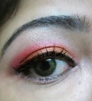Pink and orange eye make up tutorial