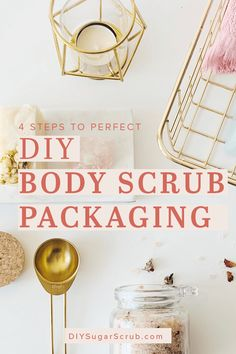 Perfect DIY Body Scrub Packaging in 4 Simple Steps DIY Body Scrub Packaging. Being mindful of the little details can have a big impact on the presenta Small Gifts For Coworkers, Homemade Gifts For Friends, Easy Homemade Gifts, Homemade Skin Care, Diy Skin Care, Sugar Scrub Packaging, Sugar Scrub Diy, Diy Body Scrub, Diy Scrub