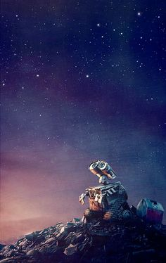 Wall-E reminds me of one of my bff's he is so funny and does not talk much....wall-E: