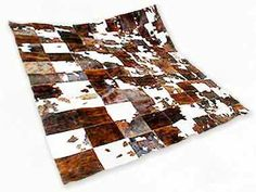 Patchwork 100% natural hand crafted cowhide rug