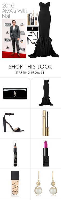 """""""2016 American Music Awards with Niall Horan"""" by onedirectionimagineoutfits99 ❤ liked on Polyvore featuring Yves Saint Laurent, Zuhair Murad, Zara, D&G, Anrealage, NARS Cosmetics, Effy Jewelry and Simply Silver"""