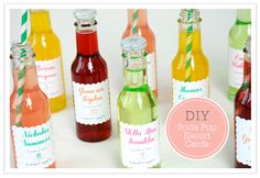DIY soda tags