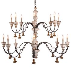 Bliss Studio Genevieve Antique White Chandelier